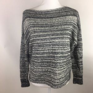 Madewell Womens Sweater XS Gray Black Crewneck